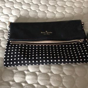 Kate Spade fold over clutch